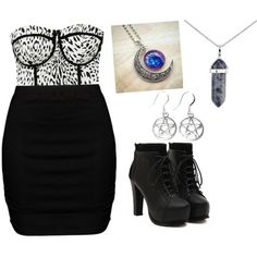 Night out by phebe-ozmore on Polyvore featuring polyvore, fashion, style, Zizzi and Lord & Taylor