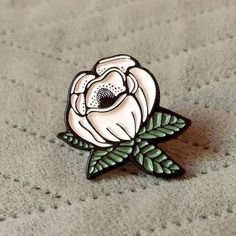 Magnolia Enamel Pin by ShayeDisplay on Etsy