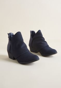429b34e3533b Moxie on the Move Bootie in Navy Blue in 7 by Blowfish from ModCloth  Modcloth