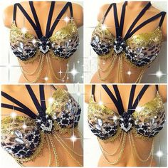 d1d8b430d938c Leopard Goddess Rave Bra by TheLoveShackk on Etsy Rave Makeup