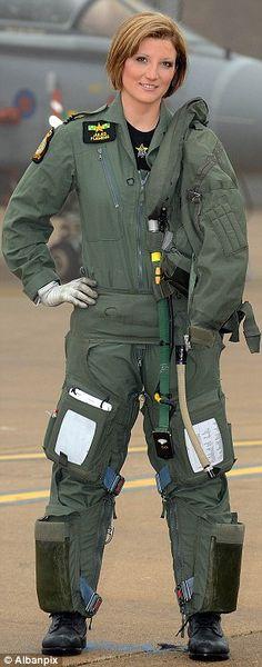 Flt Lt Jules Fleming in front of her Tornado GR4
