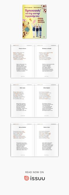 RYMOWANKI NA TRZY SZEREGI LOGOPEDYCZNE: ciszący, syczący, szumiący. Elżbieta Szwajkowska, Witold Szwajkowski W książce znajduje się zbiór rymowanek przeznaczonych do ćwiczeń logopedycznych. Umieszczono tu po 60 wierszyków dla każdego szeregu głosek: syczącego (s, z, c, dz), szumiącego (sz, ż/rz, cz, dż) i ciszącego (ś, ć, ź, dź) oraz 100 utworów zawierających wyrazy z głoskami ze wszystkich trzech szeregów. W rymowankach poświęconych danemu szeregowi nie występują żadne głoski z pozostał...