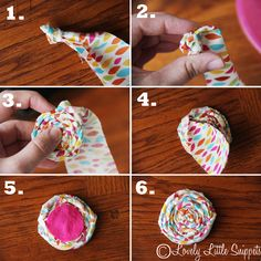 #lovelylittlesnippets DIY baby girl Rolled Fabric Flower headband