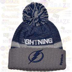 TAMPA BAY LIGHTNING Official NHL Team REEBOK Hat Knit Pom Pom Beanie – MyCraze #Reebok #TampaBayLightning  #Beanie #NHL