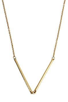 #Romwe V-shaped Stick Pendant Necklace