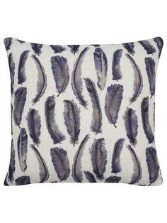 Feather print cushion