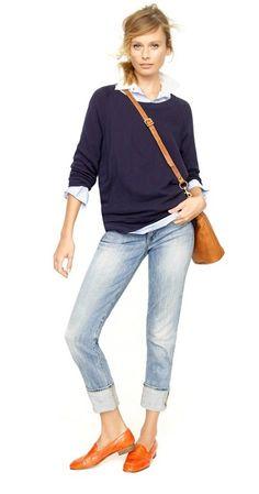 Fashionable fashion over fashion mode, look fashion, womens fashion, au Style Désinvolte Chic, Style Casual, Mode Style, Casual Chic, Casual Outfits, Casual Jeans, Cuffed Jeans, Dress Casual, Denim Pants