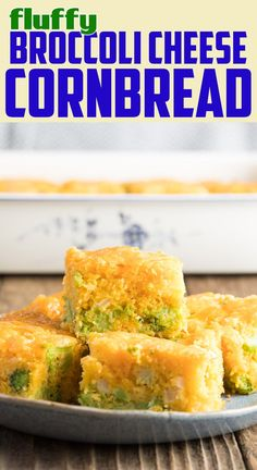 Fluffy Broccoli Cornbread Recipe made with a handful of simple ingredients including jiffy cornbread mix, sour cream and cheese! A true southern favorite. Creamed Corn Cornbread, Sour Cream Cornbread, Jiffy Cornbread Recipes, Cornbread Casserole, Broccoli Cheese Cornbread Recipe, Cornmeal Recipes, Broccoli And Cheese, Zucchini Cornbread, Jiffy Mix Recipes