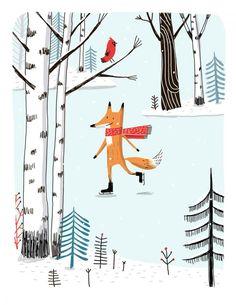 Patinage - Skating - Elise Gravel | author - illustrator