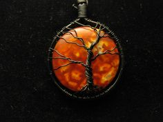 Tree of Life wire wrapped pendant with Dragon Agate. $35.00, via Etsy.