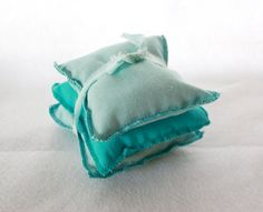 Large Sea Glass Colored Organic Lavender Sachets by Scrapcycling