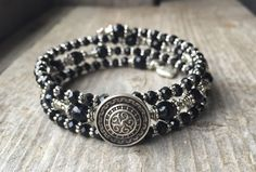 Pewter Decorative Button Multi Strand Memory by McHughCreations