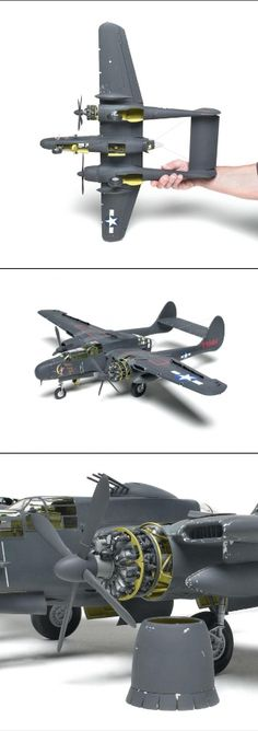 "HobbyBoss 1/32 scale P-61B Black Widow - The first 1/32 scale P-61 Black Widow in injection-molded plastic comes to us from HobbyBoss — and it is a massive undertaking! Nearly 19"" long, with a wingspan of 25"", it is huge."