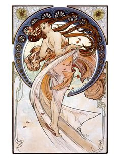 Gorgeous Alphonse Mucha...would be a gorgeous back piece for someone :)