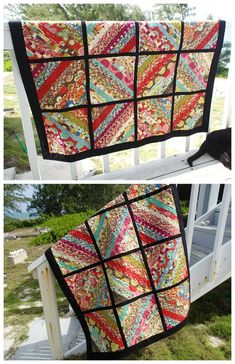 My serger jelly roll quilt is finished Quick and simple jelly roll quilt made with a single jelly roll plus a solid for sashing. Love the modern look. The post My serger jelly roll quilt is finished appeared first on Quilt Decor. Serger Projects, Quilting Projects, Quilting Designs, Quilting Ideas, Quilting 101, Jellyroll Quilts, Easy Quilts, Bonnie Hunter, Nine Patch