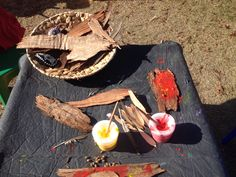 Bark painting. Save the Children Australia celebrating National Reconciliation Week 2015.