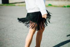 Fringe skirt. Tickle Your Fancy - Blogi | Lily.fi