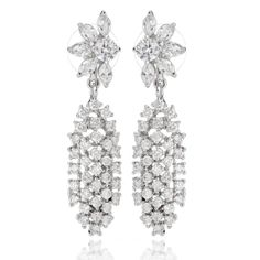 #Jacqueline Kennedy Waterfall Earrings  #Replica by Camrose & Kross