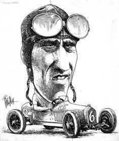 Tazio Nuvolari visto da Franco Bruna. (Courtesy Little Nemo Art ...