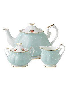 Royal Albert China Polka Rose 3 Pc Teaset - Teapot, Sugar, Creamer Royal Doulton http://www.amazon.com/dp/B00JHLYFHW/ref=cm_sw_r_pi_dp_Wl7Avb117QQQ4