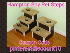 Hampton Bay Pet Steps Use Coupon Code pinterestdiscount10 at Etsy checkout for 10% off. #dogstairs #dogramp #petstairs #dogsteps (scheduled via http://www.tailwindapp.com?utm_source=pinterest&utm_medium=twpin&utm_content=post31849278&utm_campaign=scheduler_attribution)