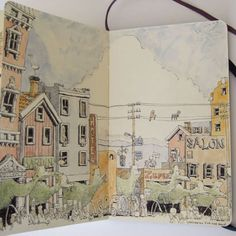 Sketchbook by Mattias Adolfsson. So much detail and whimsy!