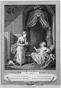 Le Bain (the Bath), engraved by Antoine Louis Romanet, France, 1774