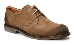 Ecco A/W brown suede lace shoe