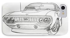 Amazing Graphite Pencil Sketched Art Plymouth GTX American Muscle Car from the art studio of Scott D Van Osdol available at fineartsamerica.com