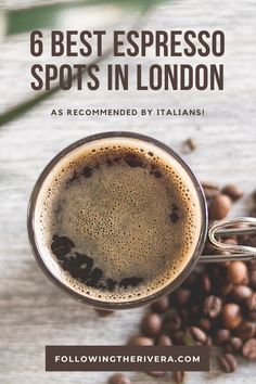 If you're looking for a good bar in these 6 places will hit the spot! What's more, these recommendations come from the people who know their espresso, Italians living in the city. Edinburgh Travel, Scotland Travel, Ireland Travel, London Travel, London Calling, Europe Travel Guide, Travel Guides, Travel Destinations, Post Workout Shake