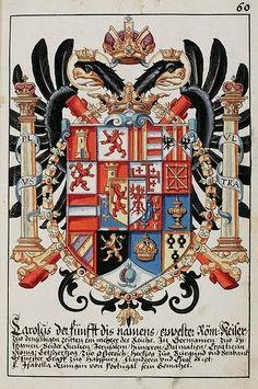 Publicado originalmente en ingés el 13.04.10         Aguila de dos cabezas, escudo del rey Carlos I de España y V (Emperador de Alemani... Kaiser, Coat Of Arms, Medieval, Google, Queens, Prince, Culture, House, Double Headed Eagle