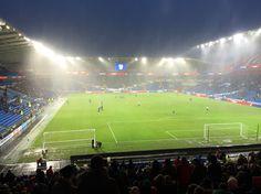 A rain swept Cardiff City Stadium