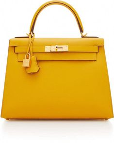 8619731b41 Hermès Vintage by Heritage Auctions Hermes 28cm Jaune Ambre Epsom Leather  Sellier Kelly  Hermeshandbags Yellow