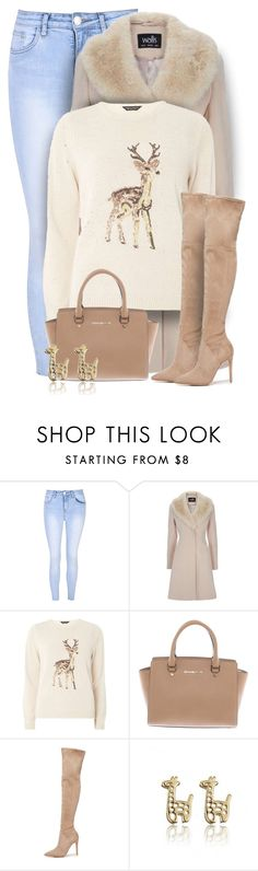 """""""Reindeer Sweater"""" by majezy ❤ liked on Polyvore featuring Glamorous, Dorothy Perkins, Michael Kors and Kendall + Kylie"""