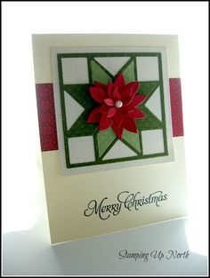 stamping up north with laurie: Christmas Quilt card