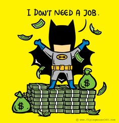 Batman doesn't need a job! If Superheroes had Part-time Jobs Graphic Design Project by Hon Chow #graphic #superheros