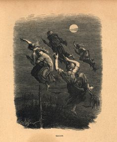 vintage witch illustration