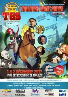 Affiche du Toulouse Game Show de décembre 2012 sur le #Japon