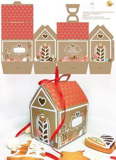 Christmas Gift Box, Christmas Gingerbread, Christmas Love, Christmas Projects, Christmas Holidays, Christmas Decorations, Christmas Ornaments, Xmas, Cardboard Crafts