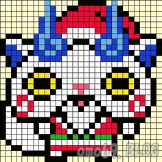 アイロンビーズ-コマさんサンタ001.jpg 411×411 pixels