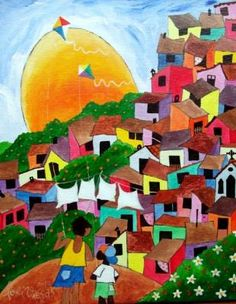 Anuncios Gratis OBRAS DO ARTISTA NAIF LORIVAL VIEGAS A VENDA COM AJUR SP Espana Art And Illustration, Art Pop, Painting For Kids, Painting & Drawing, Frida Art, Cityscape Art, Naive Art, Mexican Art, Art Plastique