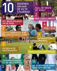 10 redenen om aan de Vrije Universiteit te studeren