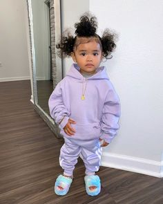 Mixed Baby Hairstyles, Cute Hairstyles For Kids, Natural Hairstyles, Baby Girl Fashion, Toddler Fashion, Kids Fashion, Black Baby Girls, Cute Baby Girl, Black Babies