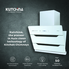 Kutchina, the pioneer in Auto clean technology of Kitchen Chimneys.Call: Tollfree No : 1800 419733 to grab the exciting offers