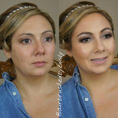 Before and after of my beautiful bridal makeup!#weddingmakeup #bridal #bridalmakeup #wedding #makeup #makeuplover #makeuptutorial #eyemakeup #smokeyeyes #toofaced