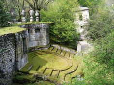 Parco dei Mostri (The Park of the Monsters) A wooded garden park created in the 16th Century by Pier Francesco Orisini (1528-1588), in Bomarzo, Viterbo, Lazio, Italy.