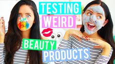 Testing WEIRD Beauty Products! Crazy Products You NEED To Try! Asian Bea...