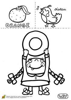 Lettre O Orange Oiseau, page 15 sur 26 sur HugoLescargot.com