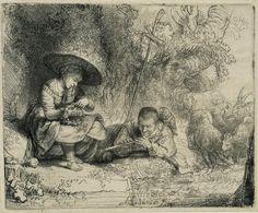 Rembrandt Harmensz van Rijn, Der Flötenspieler, 1642 - Las virtudes musicales del dibujo y la pintura - 20minutos.es