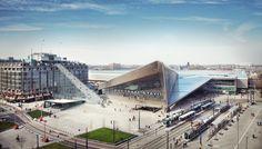 MVRDV to Install a 180-Step Urban Staircase Outside Rotterdam's Central Station